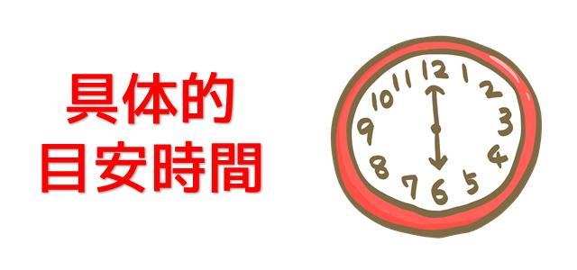 目安時間を表現している画像