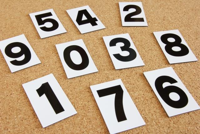 数字の写真