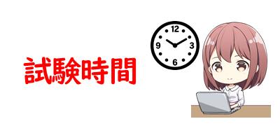 試験時間を表現している画像