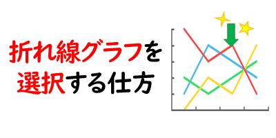 折れ線グラフを選択するを表現している画像