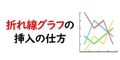 折れ線グラフの挿入を表現している画像