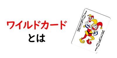 ワイルドカードを紹介している画像