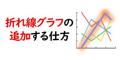 折れ線グラフを追加を表現している画像