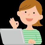 パソコン教室で学ぶ女性